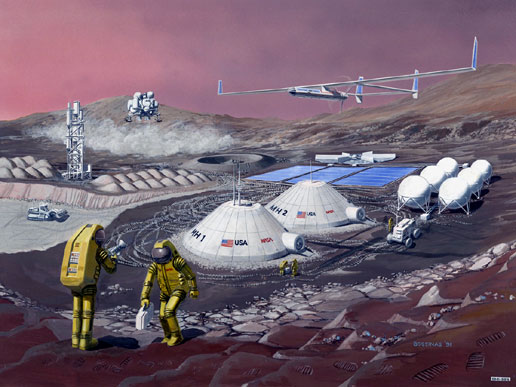 There are plans to colonise mars